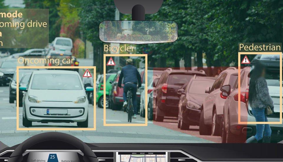autonomous car on self-driving mode