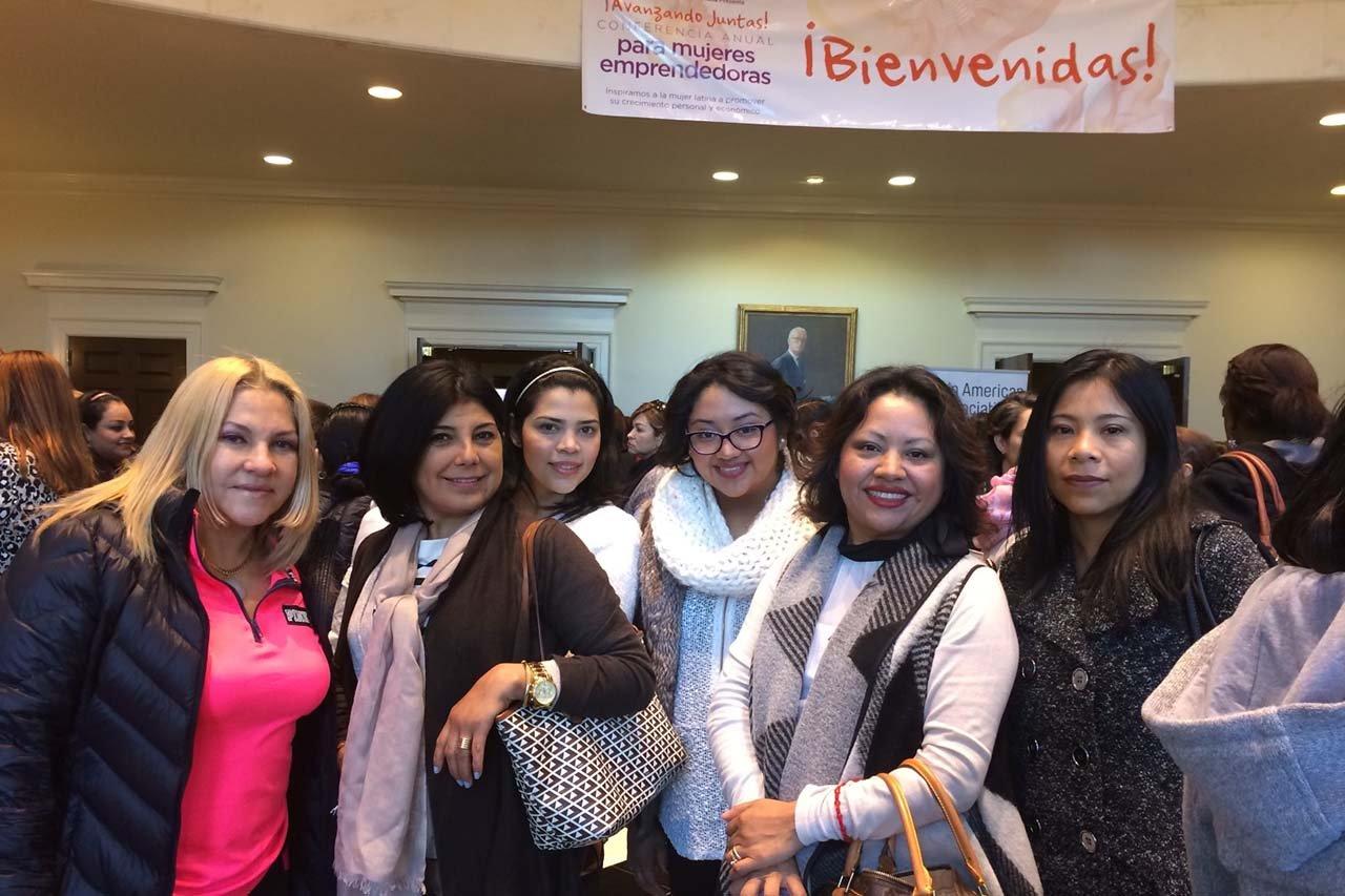 Latinas attend a Latin American Association women's entrepreneurship conference