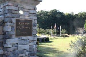 Kennesaw Cemetery entrance