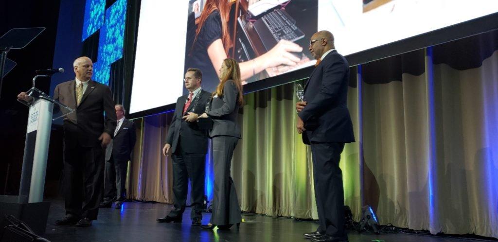 Unsung Hero Award winners accepting their awards