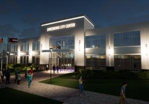 Jonesboro City Center at night