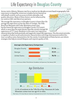 Douglas County Life Expectancy Snapshot