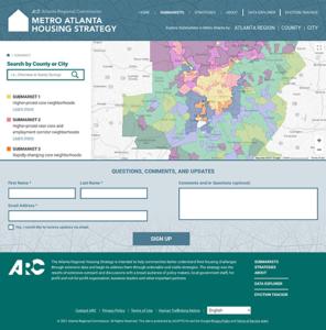 Metro Atlanta Housing Strategy website