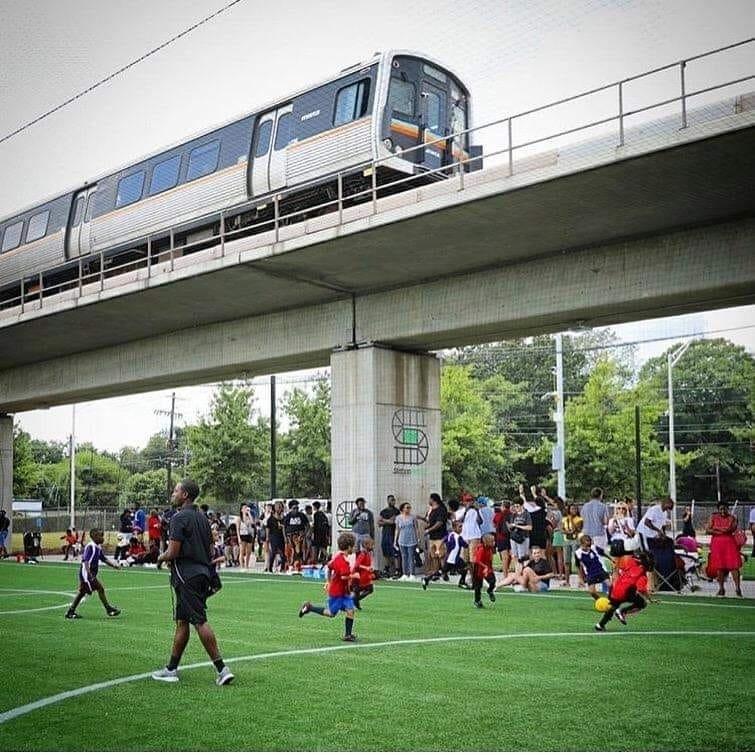 Station Soccer at Five Points MARTA Station