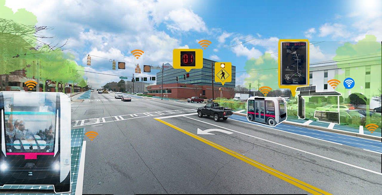 Virginia Avenue smart corridor rendering
